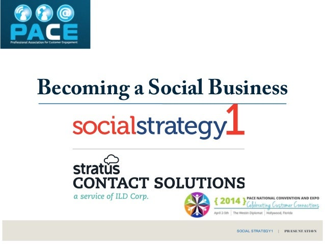 Becoming a Social Business SOCIAL STRATEGY1 | PRESENTATION