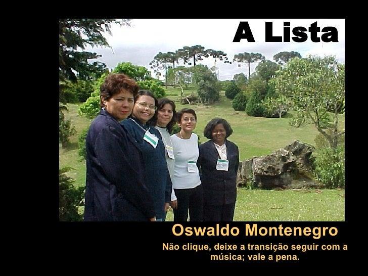 IldéSia A Lista Osvaldo Montenegro