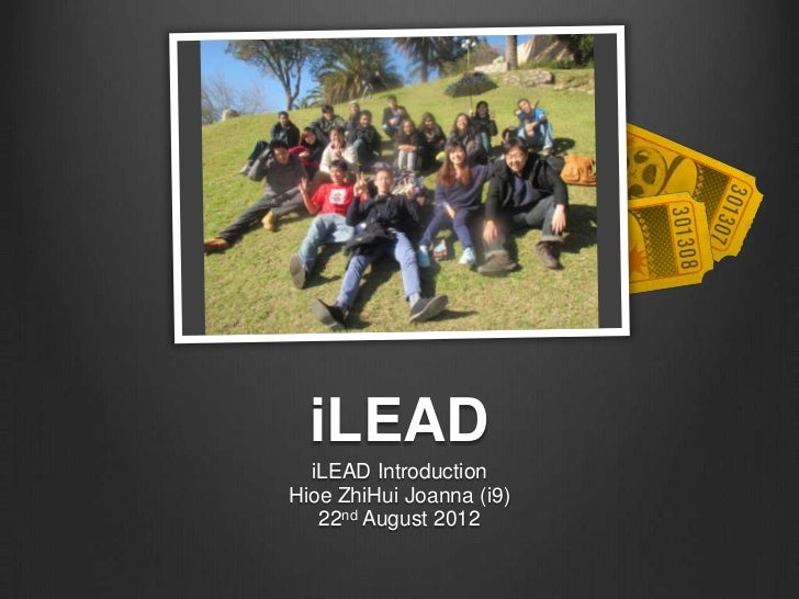 iLEAD Introduction 22nd August