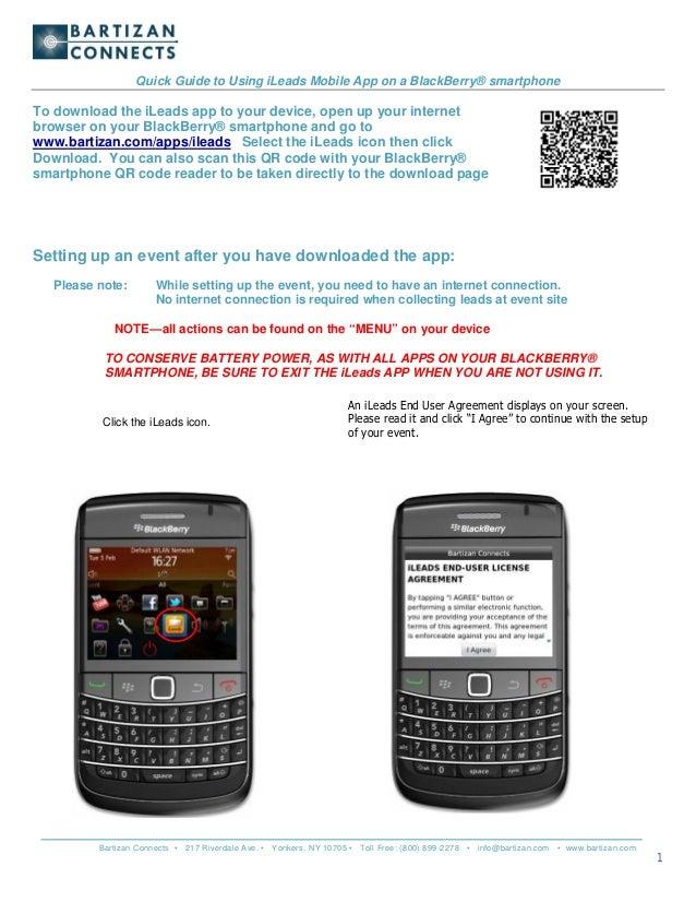 Lead Retrieval App for BlackBerry Devices - User Guide