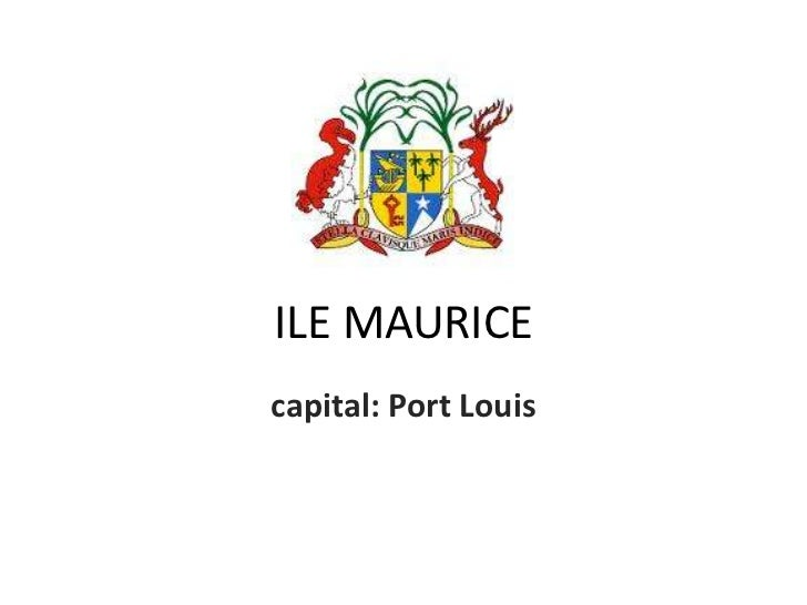 ILE MAURICEcapital: Port Louis