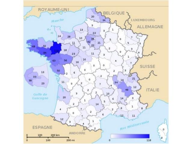 Distribution géographique des diplômés de l'enseignement libre