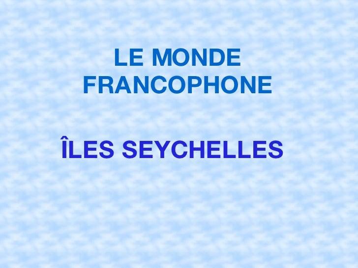 Iles  Seychelles  Irene  Cintia