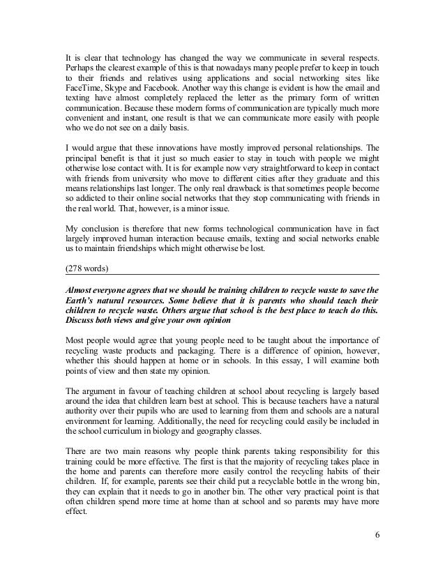 Argument for communication essay