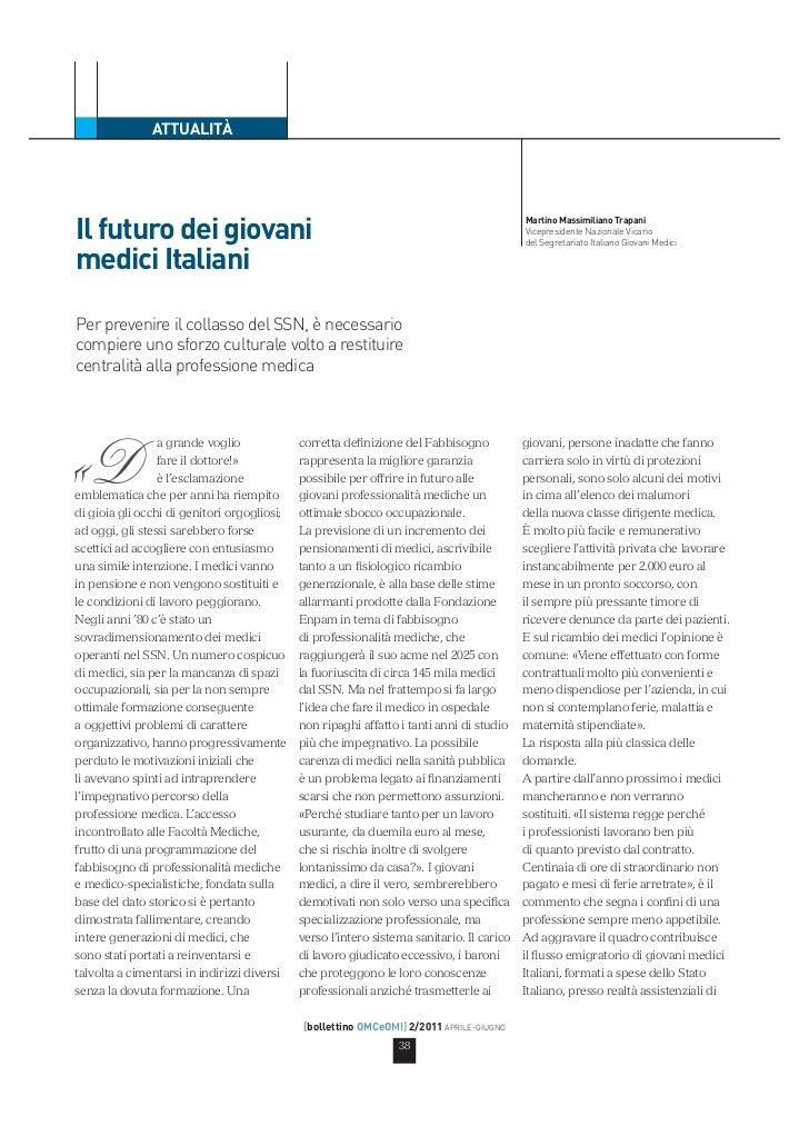 Il futuro dei giovani medici italiani