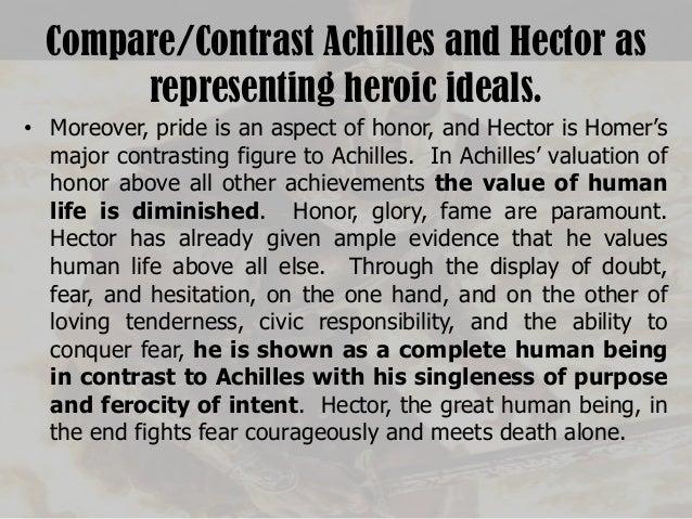 How does Achilles show excessive pride?