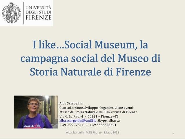 I like social museum, l'esperienza del museo di storia naturale di firenze