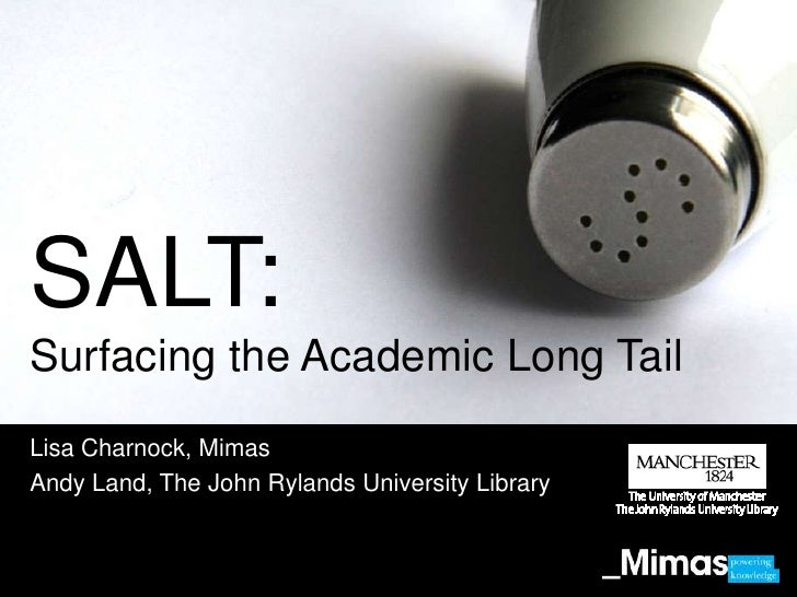 SALT - Surfacing the Academic Long Tail