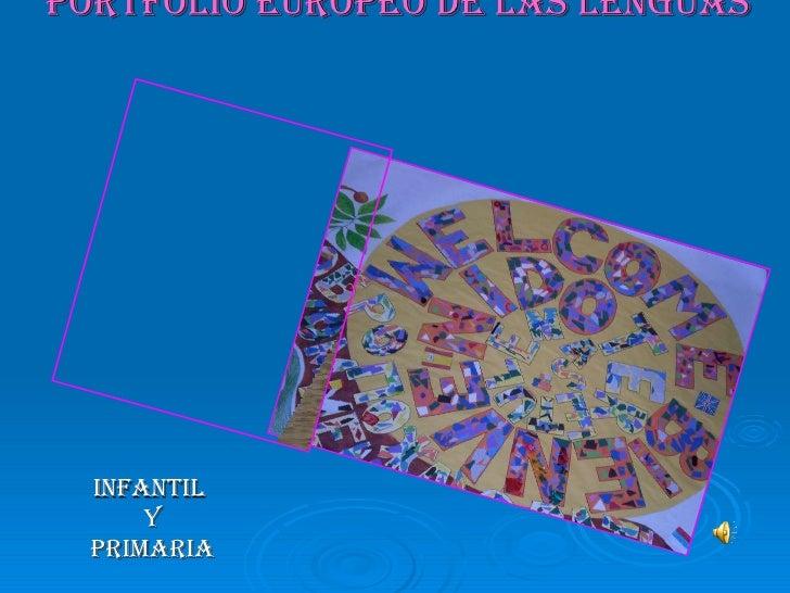 Portfolio Europeo de las lenguas   Infantil  Y Primaria