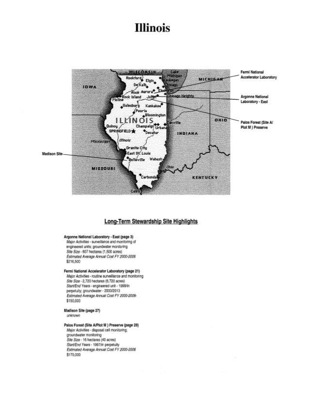 Illinois Long-Term Stewardship Site Highlights Argonne National Laboratory - East (page 3) Major Activities -surveillance ...