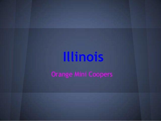 IllinoisOrange Mini Coopers