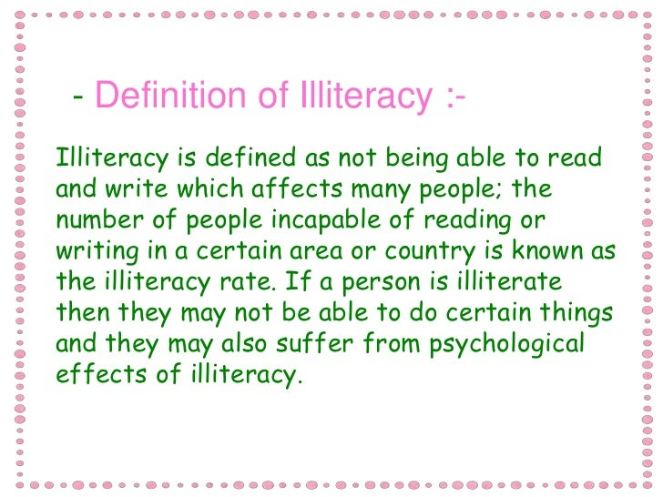 effects of illiteracy on society essay Illiteracy - essay, speech effects and solutions cheap essay writing service: where illiteracy is one of the severe evil prevailing in the indian society.
