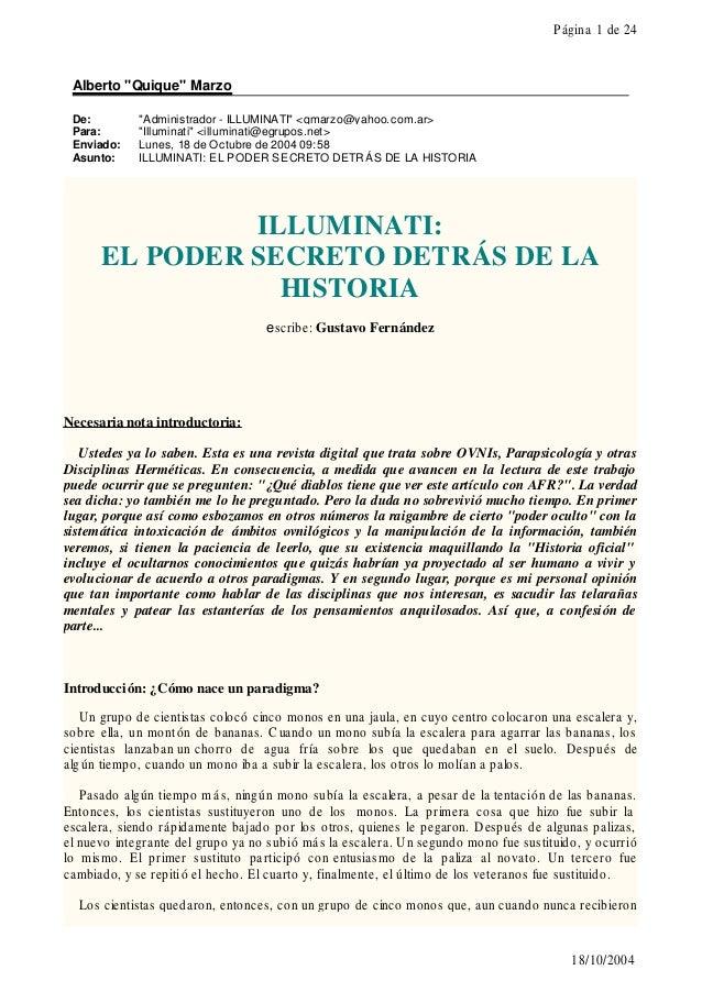 """Página 1 de 24  Alberto """"Quique"""" Marzo De: Para: Enviado: Asunto:  """"Administrador - ILLUMINATI"""" <qmarzo@yahoo.com.ar> """"Ill..."""