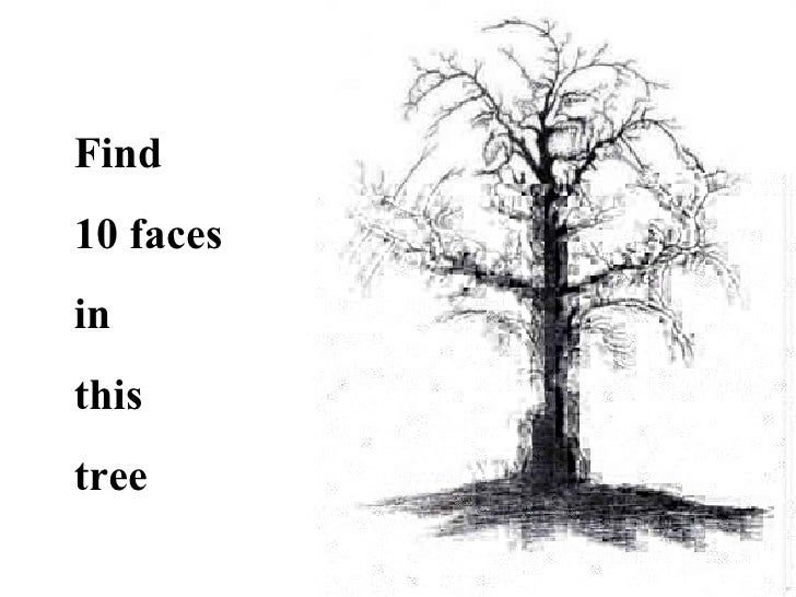 Source Imageslidesharecdn Report Optical Illusion Faces In Tree