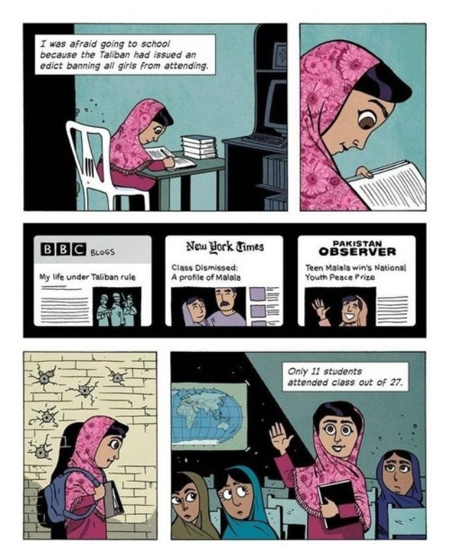 Illustrated malala yousafzai