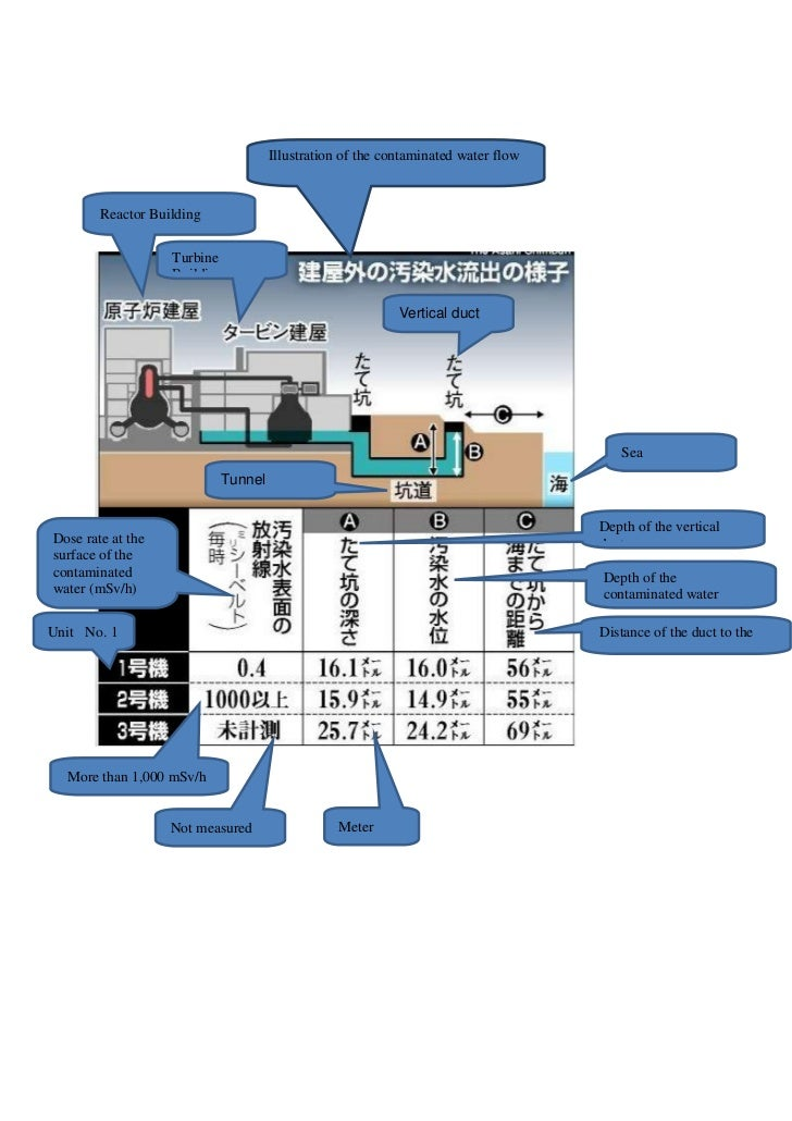 Fukushima contaminated water flow illustration (from 30 March 2011, 14.30 UTC)