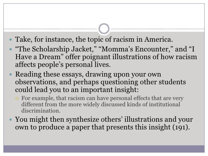 effects of racism essay The following essay effects of racism on children concerns the contradictory issues of racism as the author puts it, racism and discrimination.