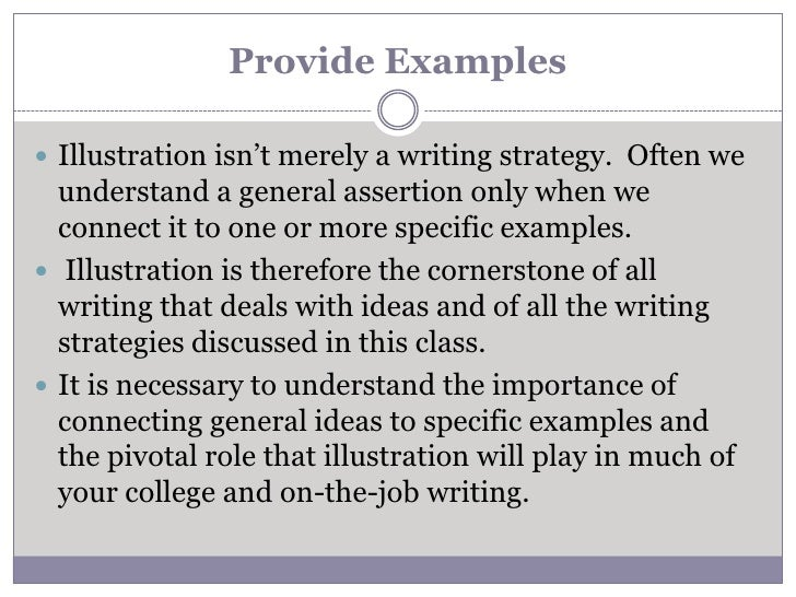 What is a illustrative essay?