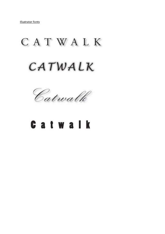Illustrator Fonts