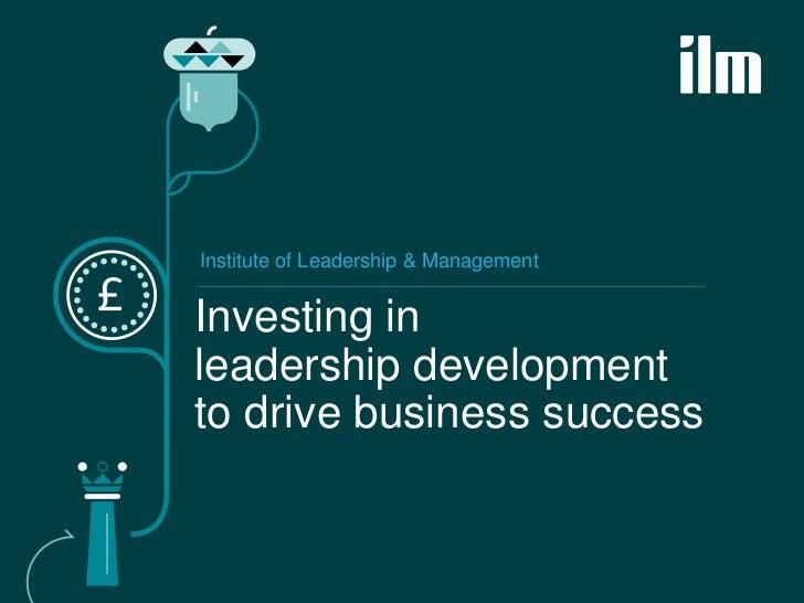 Leadership development to drive buisness success