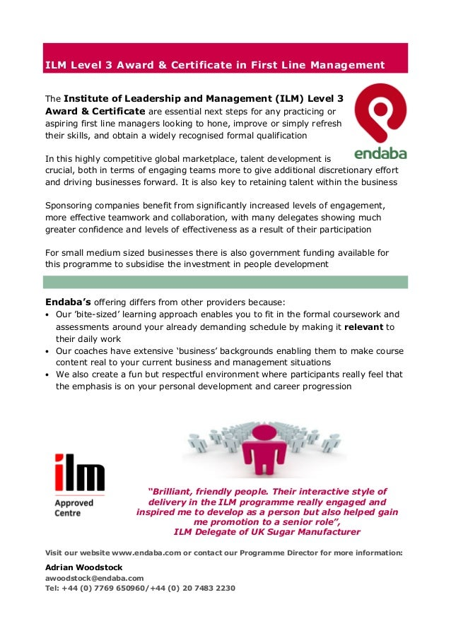 ilm coursework Develop your leadership and management skills we're the professional body representing over 30,000 leaders and managers access exclusive learning resources, events.