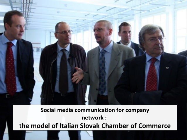 Social media communication for company network : the model of Italian Slovak Chamber of Commerce