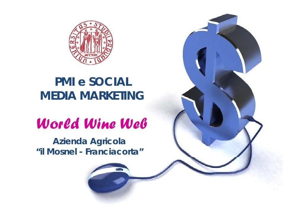 """PMI e SOCIAL  MEDIA MARKETING  World Wine Web      Azienda Agricola """"il Mosnel - Franciacorta"""""""