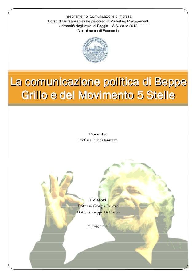 IL Movimento 5 Stelle - Paper di comunicazione politica