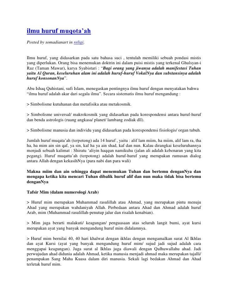 "HYPERLINK "" http://somadianart.wordpress.com/2008/05/28/ilmu-huruf-muqotaah/""  o "" Permalink for : ilmu hurufmuqota'ah"" i..."