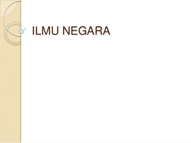 ILMU NEGARA