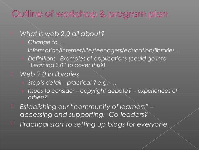   What is web 2.0 all about? › Change to …  information/internet/life/teenagers/education/libraries… › Definitions. Examp...
