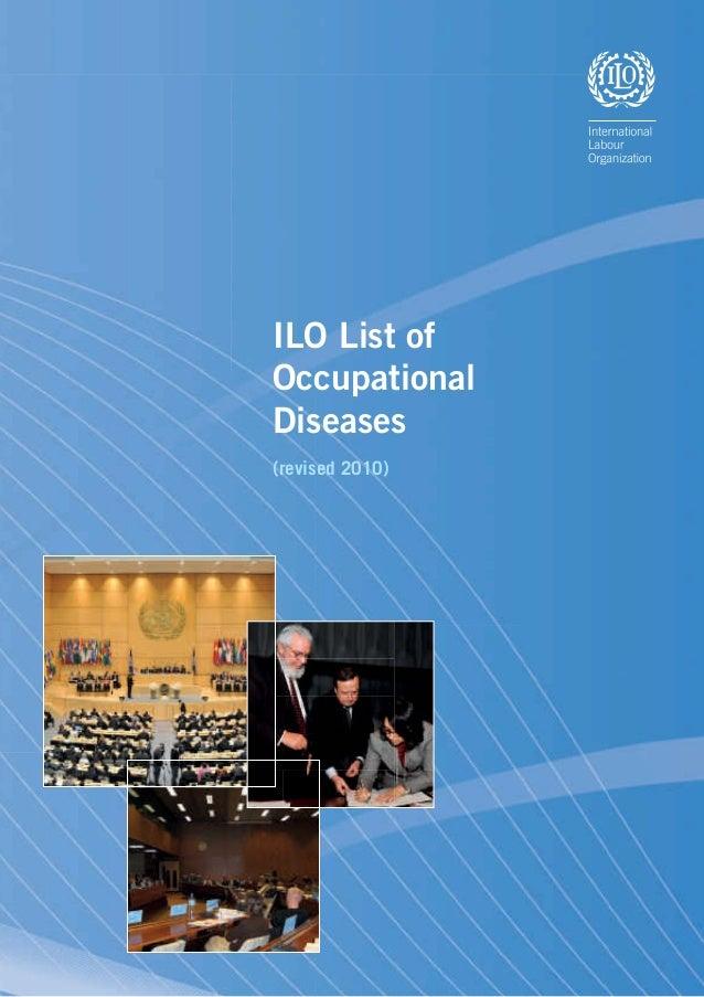 ILO List of Occupational Diseases (revised 2010)