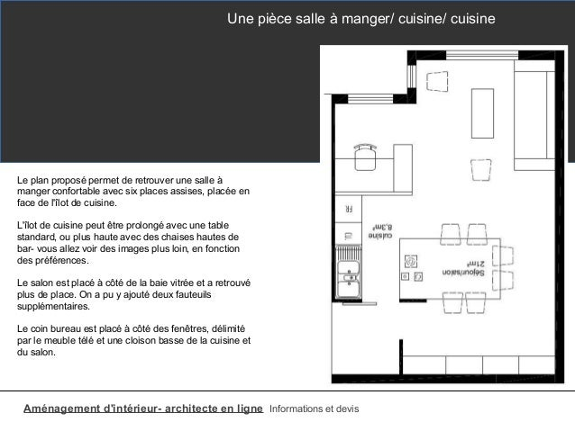 Lot de cuisine table et bar for Cuisine ilot central dimension
