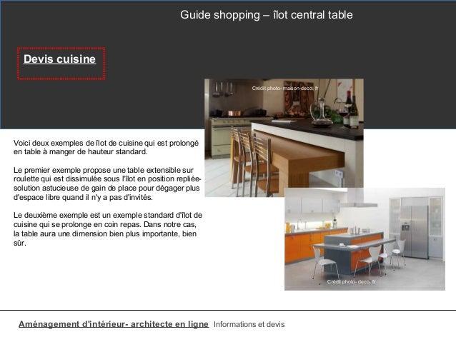 Table Cuisine Dimension Standard