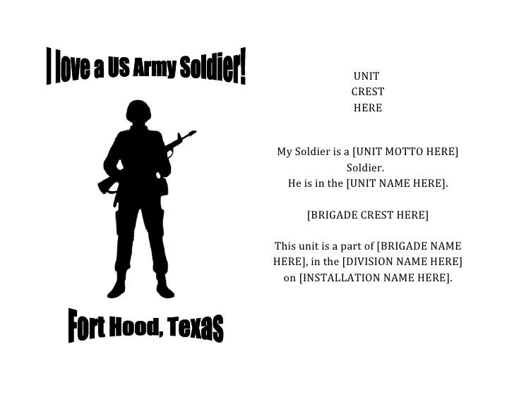 Booklet: I Love a US Army Soldier