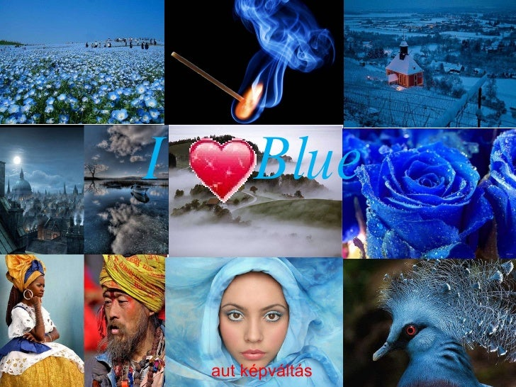 Eu  amo  azul !