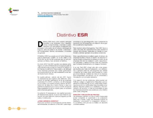 Columna Astrid Cornejo- Distintivo ESR