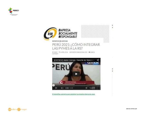 Perú 2021: ¿Cómo integrar las PYMEs a la RS?
