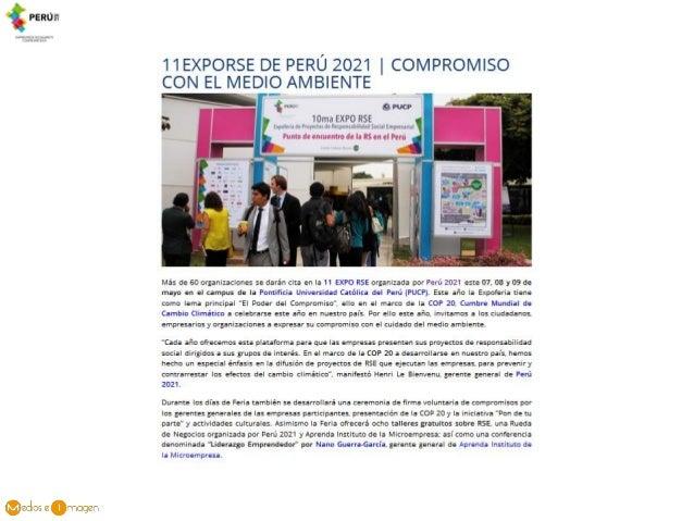 11EXPORSE DE PERÚ 2021