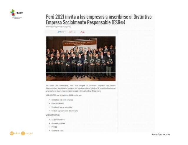 Perú 2021 invita a las empresas a inscribirse al Distintivo Empresa Socialmente Responsable (ESR®)