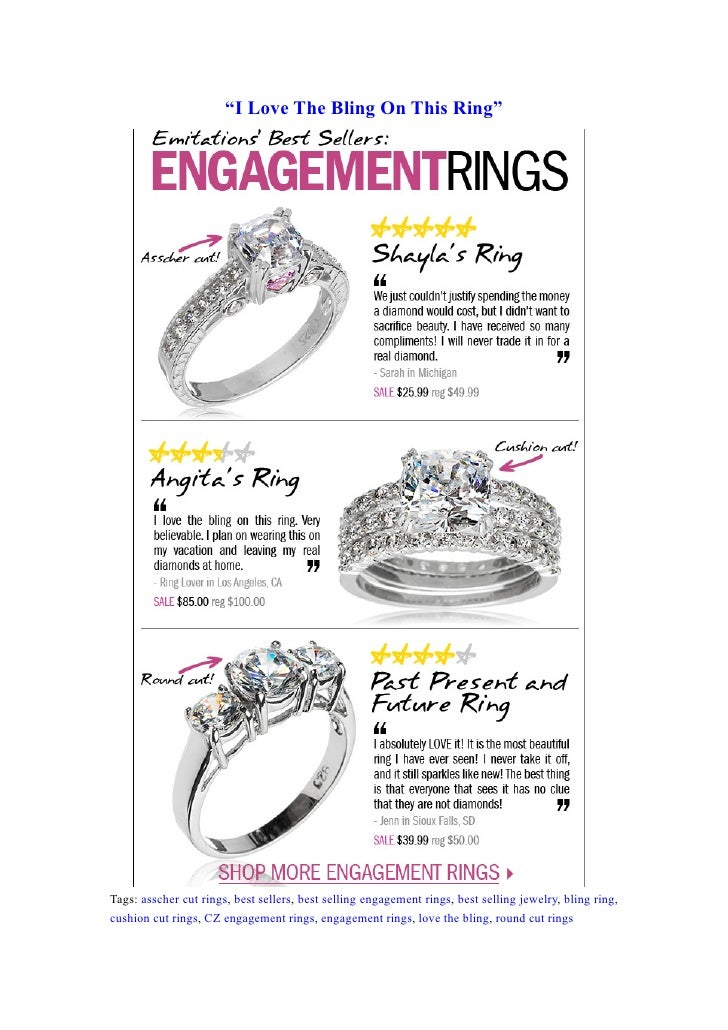 """I Love The Bling On This Ring""     Tags: asscher cut rings, best sellers, best selling engagement rings, best selling jew..."