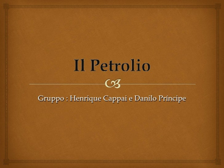 Gruppo : Henrique Cappai e Danilo Príncipe