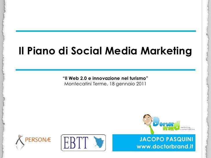 Il piano di social media marketing abstract