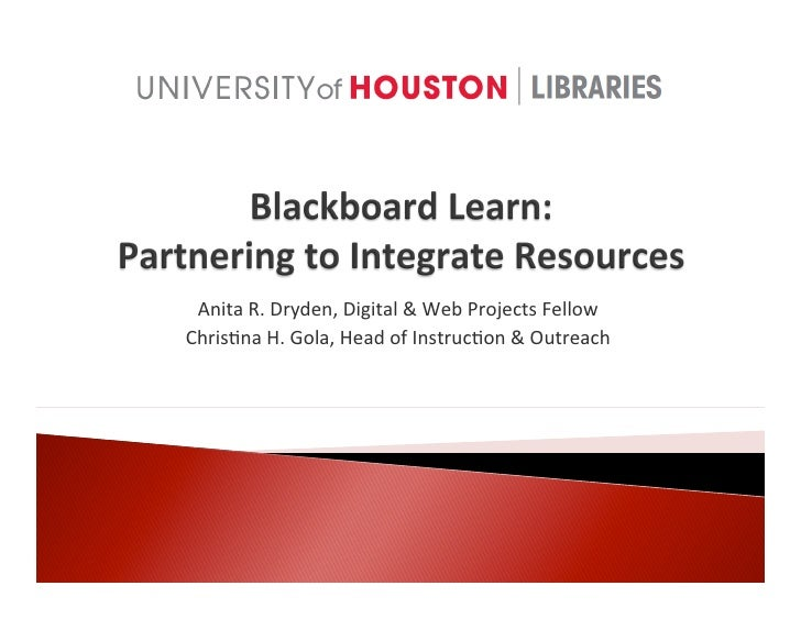 blackboard learn presentation - internet librarian 2011