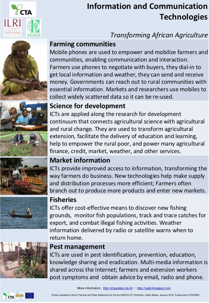 Information and Communication Technologies: Transforming African Agriculture