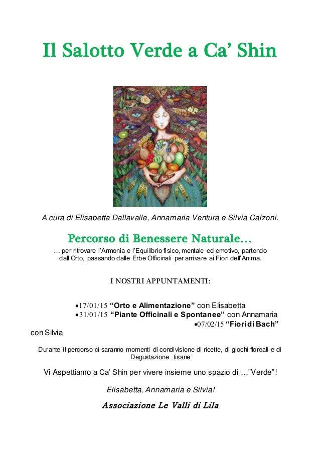 Il Salotto Verde a Ca' ShinA cura di Elisabetta Dallavalle ...