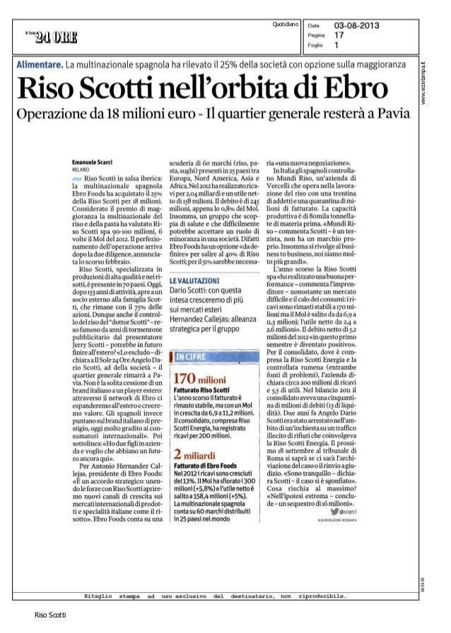 Riso Scotti www.ecostampa.it065439 Quotidiano