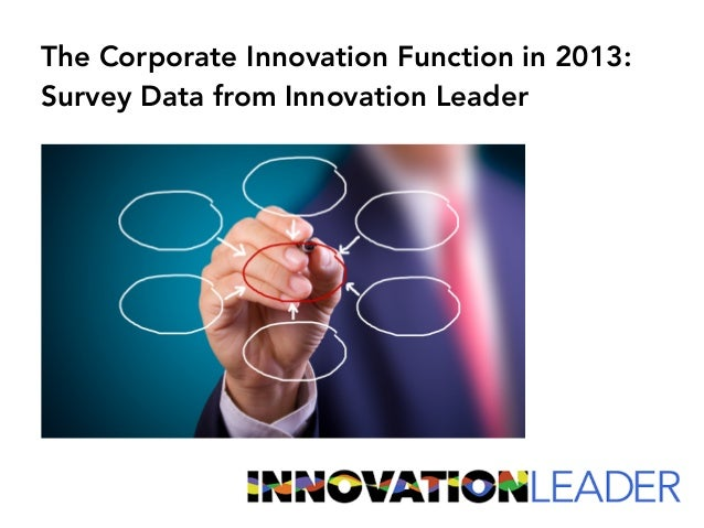 The Corporate Innovation Function in 2013: Survey Data from Innovation Leader