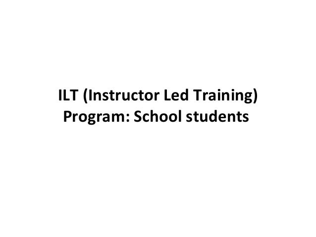 Demo of Instructor Led Training Program for School students