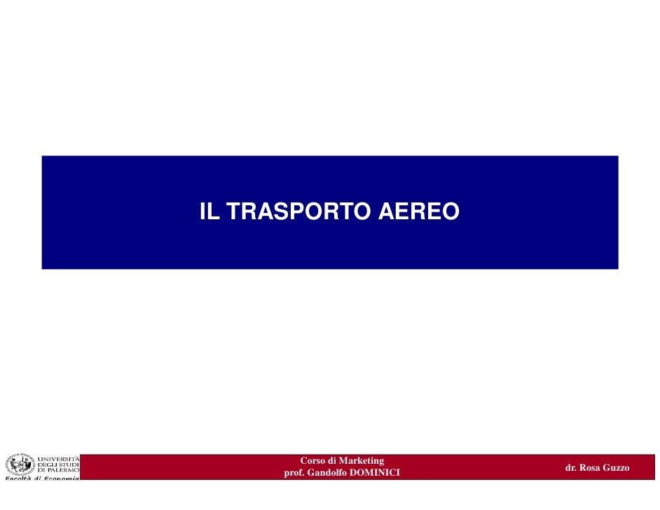 Il trasporto aereo - case study